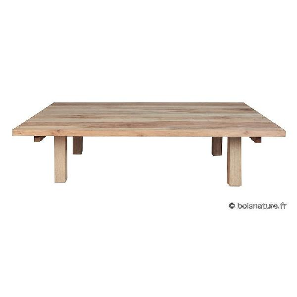 TABLE BASSE PLATEAU MASSIF grand modele