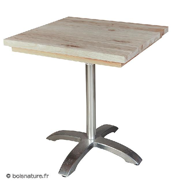 TABLE BISTROT PIED ALU D.70